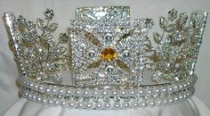 """RHINESTONE Elizabeth George IV State Diadem Crown Tiara (UNISEX) – CrownDesigners, has a variety of stone selections for the best personalization that says """"You"""")"""
