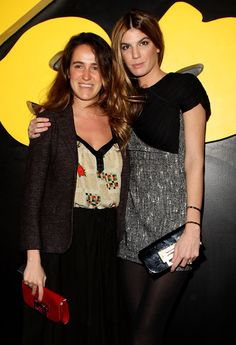 Bianca Brandolini and her sister Coco- Milan fashion week