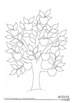 Apple Tree Colouring Page