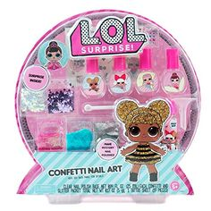 LOL Surprise Dolls Gift Guide for the LOL loving girl. Find LOL doll crafts, toys, DIY sets, clothing, room decor & more in this easy to use guide. Confetti Nails, Glitter Confetti, Crafts For Kids, Arts And Crafts, Nail Art Set, 1 Tattoo, Lol Dolls, Shopkins, Art Activities