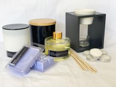 Ceramic Jars, Diffusers, Soy Candles, Large Black, Tea Lights, Sticks, Pear, Giveaway
