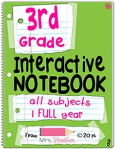 Interactive notebooks are a way to break free from worksheet overload. These pages are based on common core standards and cover reading, ELA, math, science and social studies for third grade. Interactive pages are fun and are an excellent way to cement your students' understanding. I think of them as individual, portable anchor charts.