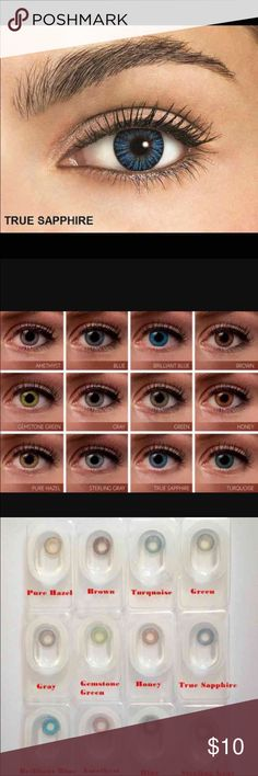 6f78f122b7 1 Pair True Sapphire Colored Contacts Available Colors All Colors Please  message me what color you