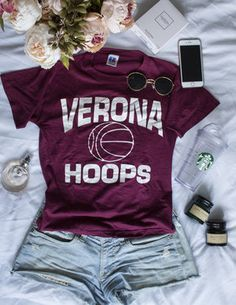 College basketball tee #ootd #ootdfash #outfit #fashion #fashionfury #dresscode #dresscode_fashion #famousoutfit #stylezandfashionn #instillandinspire #fashionaddictx0 #Fcloset #earthstyles #kissinfashion #lawsofashion #onlyfashionoutfit #hairsandstyles #americanstyle #instafashion #instastyle #femaleclothing #dressed_up #stylechoice #fashi0n_inspiration #weheartit #flatlay #flatlayapp #flatlays College Basketball, Only Fashion, Dress Codes, Ootd, Fashion Outfits, Clothes For Women, Tees, Inspiration, Spring