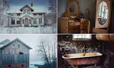 A photographer has captured a series of mesmerising photos of abandoned houses in the Scandinavian countryside. The houses, farms and cabins were found in Sweden and Norway.