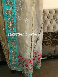 Embroidery Scarf, Hand Embroidery, Embroidery Designs, Indian Party Wear, Indian Wear, Mina Hasan, Wedding Wear, Wedding Dresses, Indian Designer Suits