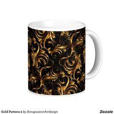 Gold Pattern 2 Classic White Coffee Mug