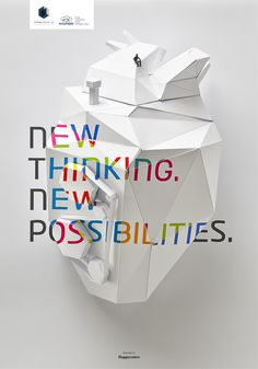 Brilliant use of colour on the beautiful origami sculpture. Happycentro for hyundai    www.cargocollective.com/GPD