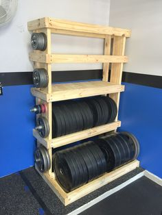 DIY - Custom Garage Gym Weights Rack