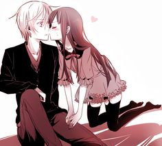 Inu x Boku SS kiss scene anime wallpaper