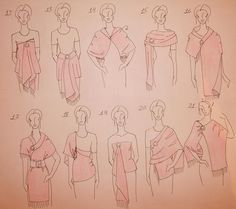 How to Wear a Shawl, part 1