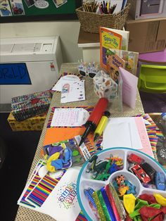 Birthday small world play eyfs. Children can create their own party bags, write invitations, party lists and cards.