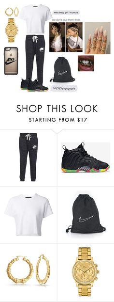 """""""Untitled #85"""" by fxmous-maniiiii ❤ liked on Polyvore featuring NIKE, Proenza Schouler, Floss Gloss, Bling Jewelry, Lacoste and Casetify"""