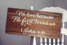 Wedding Sign Wedding Signs  Bible Quote We by SweetNCCollective, $60.00