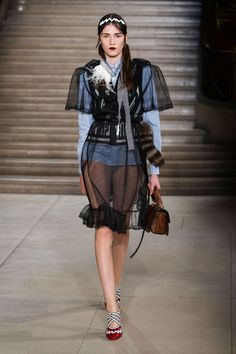 Miuccia Prada Wants You to Wear Your Lingerie Over Your Clothes Next Spring  - ELLE.com