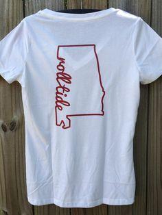 Roll Tide Shirt Alabama tshirt Alabama by DesignsbysouthernEdg