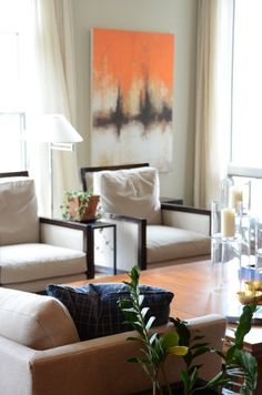 living room — Jennifer & Carl's Traditional Zen in the City | Apartment Therapy