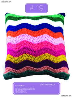 Crochet Almohadones #19 Color Violeta, Blanket, Bags, Pillow Design, Hot Pink, Blue Nails, Dots, Handbags, Blankets