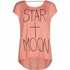 FULL TILT Star + Moon Bar Back Girls Hi Low Top