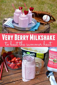 Are you looking for a delicious way to cool down and beat the summer heat wave? Give this rich and delicious Very Berry Milkshake recipe a try. All you need are 3 simple ingredients!  Find your nearest Kroger store to get the ingredients here: http://bit.
