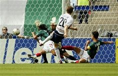 USA 2 Mexico 0 in 2002 in Jeonju. Brian McBride scores on 8 minutes to give the USA a perfect start in Round 2 #WorldCupFinals