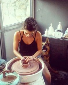 """Nikki Reed on Instagram: """"Learning pottery is learning patience, challenging you to think about not thinking too much. It wants you to feel and to create. It wants…"""" The Vampire Diaries, Nikki Reed, Damon Salvatore, Ian Somerhalder, Nina Dobrev, Rosalie Hale, Learning Patience, Pisces Love, Bonnie Wright"""