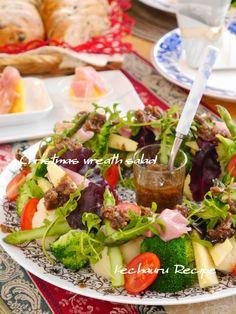 Favorite Recipes - Xmasレシピ☆『クリスマスリースみたいな温野菜 ... Xmasリースのサラダ
