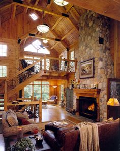 1000 Images About Log Home Great Rooms On Pinterest Log