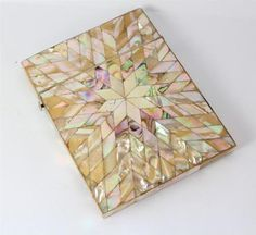 Mother of Pearl & Abalone Shell Victorian Ladies Calling Card Case
