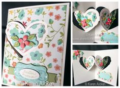 Karen Aicken made this beautiful Heart Pivot Card for Easter. She combined different dies to make this card. Elizabeth Craft Designs, Pop Up Cards, Cardmaking, Card Ideas, Hearts, Birthday Cake, Paper Crafts, Easter, Valentines