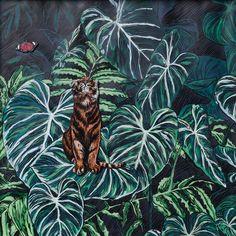 Shop online for original art. Tigris Et Papilione by South African artist Adele van Heerden, enchanting framed work on paper size 31 x 31 x Jungle Art, Art For Sale Online, Tiger Art, South African Artists, Original Art For Sale, Floral Illustrations, Botanical Art, Online Art Gallery, Art Day