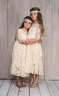 6187165fd3b 577 Best Vintage   Bohemian Flower Girls   Ringbearers images in ...