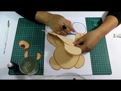 DIY Como Difuminar Osito en Fomi, Goma Eva, Microporoso, Easy Crafts - YouTube