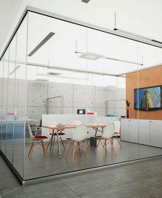 Mamparas de cristal para las oficinas