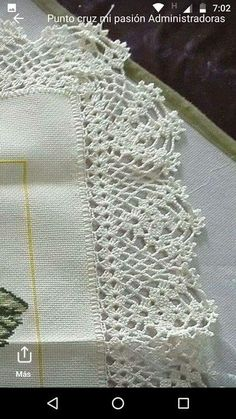 Image gallery – Page 269301252703887438 – Artofit Crochet Lace Collar, Gilet Crochet, Crochet Lace Edging, Crochet Borders, Cotton Crochet, Love Crochet, Crochet Doilies, Hand Crochet, Knit Crochet