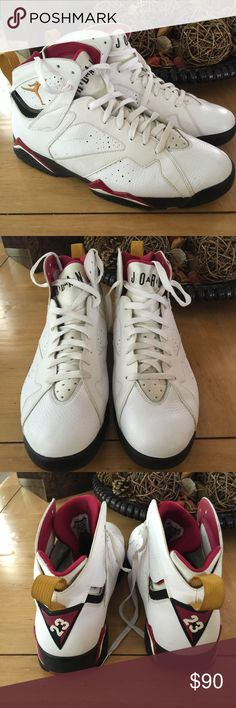 Air Jordan's Sneakers Air Jordan Cardinal 7's. Extremely good condition. Very gently worn. Small scuff on side (can be seen in cover photo) Nike Shoes Sneakers