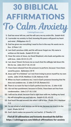 Bible Quotes For Anxiety, Biblical Quotes, Faith Quotes, Bible Verses Quotes Inspirational, Wise Quotes, Christian Affirmations, Affirmations For Anxiety, Positive Self Affirmations, Prayers