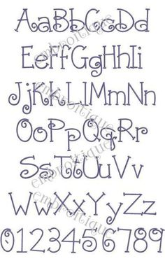 Parker Monogram Font Set - Machine Embroidery Font Alphabet Letters - Great for Boys AND Girls- Ins This is an embroidery font monogram font set by Embroitique named Parker. Tattoo Fonts Alphabet, Hand Lettering Alphabet, Doodle Lettering, Creative Lettering, Pretty Fonts Alphabet, Monogram Alphabet, Simple Lettering, Alphabet Letters Design, Embroidery Fonts