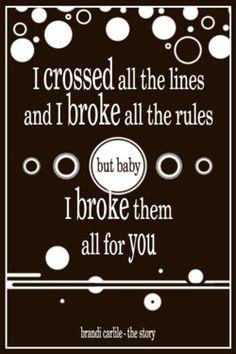 Brandi Carlile - The story--FINALLY Someone made something with Brandi Carlile lyrics- she is awesome!
