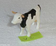Playmobil animal de la ferme - vache blanche taches noires