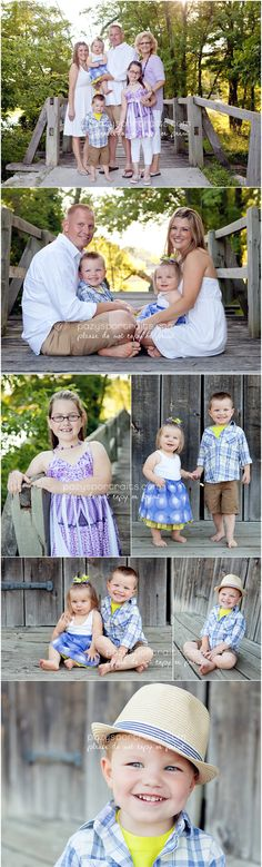 Could use the bridge at the marina for this. . fun colors outdoor family photo shoot