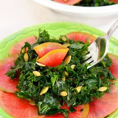 Kale Salad with Quick-Pickled Watermelon Radish Recipe