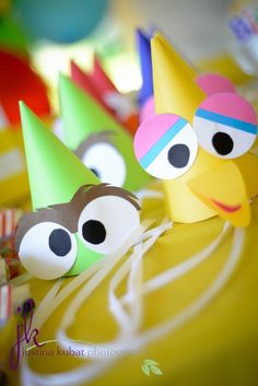 Cute Sesame Street party hats #sesamestreet #partyhats