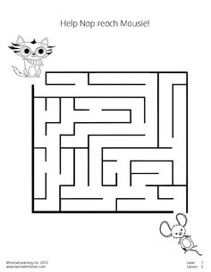 Worksheets Kindergarten Exercise color the tiger printables exercises crafts kids phonics help nap reach mousie in this fun maze crafts