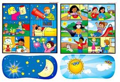 noc a den Sistema Solar, I Love School, Pre School, Good Night Moon, Day For Night, Learning Activities, Kids Learning, Teaching Time, Petite Section