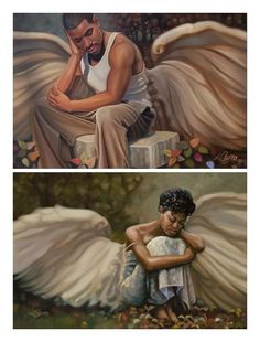African American male & female angels