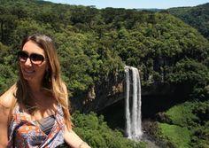 Fefê Rosada do Blog Up na Vidinha na cachoeira de Canela.