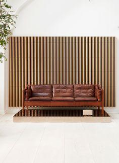 2213 Sofa designed by Børge Mogensen in the Fredericia showroom in Copenhagen