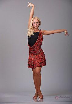 Natural Spin Signature Latin Dance Dresses:  LD28_REDLEOPARD