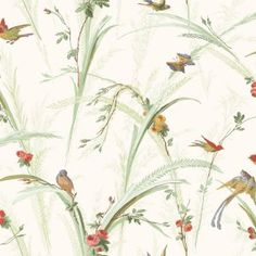 Customize the botanical pattern on the Brewster Botanical Wallpaper by choosing from a range of color options. This wallpaper has vintage appeal yet...